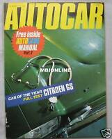 Autocar magazine 25/3/1971 featuring Citroen GS road test