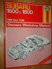 1980-1988 SUBARU 1600 / 1800 SHOP MANUAL SERVICE BOOK