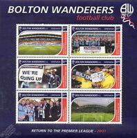 BOLTON WANDERERS Football Club Stamp Sheet (2001 Trotters / Reebok Stadium)
