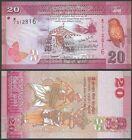 Sri Lanka 20 RUPEES 2010 P 123 UNC