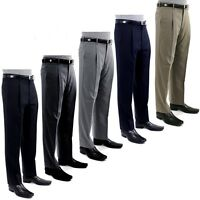 Giorgio Cosani Men's Trousers Single Pleat Classic Dress Slacks 100% Wool Pants