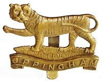 WW1 THE LEICESTERSHIRE UPPINGHAM CAP BADGE BRASS METAL