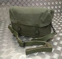 Genuine French Army Side / Shoulder / Messenger Bag. Leather Lined & Unique New