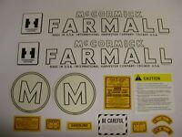 IH/ International  / McCormick / Farmall Model M Tractor Decal Set FREE SHIPPING
