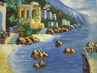 mediterranean view sea large oil painting canvas ocean modern contemporary art