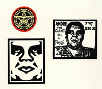 OBEY GIANT Shepard Fairey 3 STICKER LOT Set #8 *BRAND NEW* Andre The Giant