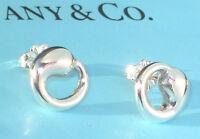 Tiffany & Co Elsa Peretti Sterling Silver 12mm Medium Eternal Circle Earrings