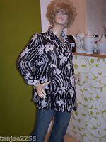 Ulla Popken Bluse elegant  Damenbluse 46/48 Übergröße B44/20
