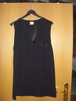 Festliche Damen Hose-und-Weste Kombination Gr. 42 schwarz   Polyester