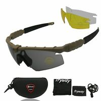 Army Military Sunglasses New Polarized Glasses Tactical Ballistic Goggles 4 Lens