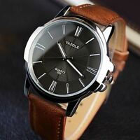 Mens Watches Top Brand Luxury Blue Glass Watch Men Watch Waterproof Leather Roma