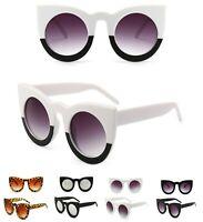 Oversized Round Cat Eye Women Sunglasses Thick Retro Style Frame Fashion Shades