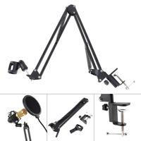 Mic Microphone Suspension Boom Scissor Arm Stand Holder for Studio Broadcast KTV