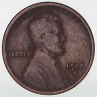 1913 S Lincoln Wheat Cent Obverse Corrosion Spot