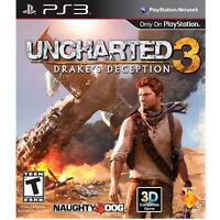 Uncharted 3: Drake's Deception (Sony PlayStation 3, 2011)VG