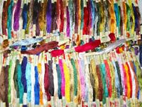100 Hand Embroidery Silk/Rayon Stranded Skeins Thread, 100 different Colours
