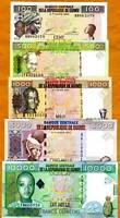 Guinea, SET, 100;500;1000;5000;10000, 1998-2008, UNC