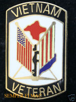 VIETNAM VETERAN HAT LAPEL PIN US ARMY MARINES NAVY USCG AIR FORCE VET GIFT WOW