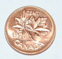 1976 1 Cent Canada Copper Nice Uncirculated