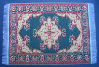 1:12 Scale 10cm x 15.5cm Woven Turkish Rug Doll House Miniature Carpet P14