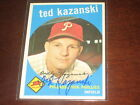 TED KAZANSKI 1959 TOPPS #99 AUTOGRAPHED SIGNED CARD