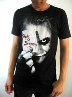 New Men JOKER  Black Top Tee T-shirt cotton movie comics ROCK size S M L XL 2XL