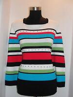Alfred Dunner Dress Casual Women's Knit Sweater sz Lg