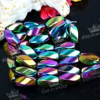 """6x12mm Colorful Magnetic Hematite Loose Beads Women Jewelry Making Findings 16""""L"""