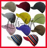PEAKED VISOR BEANIE WOOLY KNIT HAT CAP IN 18 COLOURS!