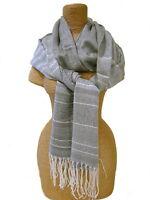 Modisches Tuch Halstuch Schal Grau Silber Dunkelgrau