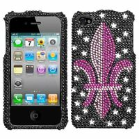 iPHONE 4 4G 4S - CRYSTAL DIAMOND BLING CASE COVER PINK ROYAL CROWN