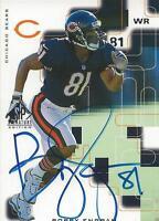Bobby Engram 1999 SP Signature Autograph BE Bears