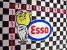 Esso Happy Motoring Sticker - Morris Minor Van Woody J4