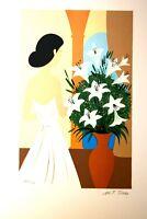 """""""Bouquet de Lys""""Lithographie signée TORRES Maria Teresa"""