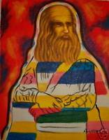 ABSTRACT GOD THE OLD MAN OIL PAINTING ON CANVAS GIFT NR
