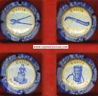 Série de 4 capsules de champagne générique n°751abc