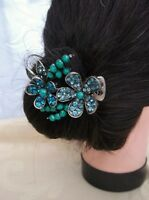 VINTAGE CRYSTAL FLOWER HAIR CLIP/CLAMP, wedding accessories*prom*races