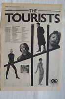 1980 - THE TOURISTS - Reality Effect + UK Tour - Press Advert - Poster Size