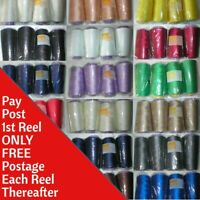 OVERLOCKER SEWING MACHINE THREAD Polyester 5000mtrs x 4 Reels TOP QUALITY 120s