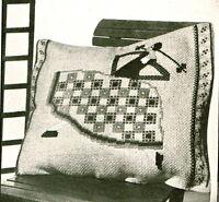 Cross stitch chart for vintage 1930s Art Deco Lady Dancer, plus insrtuctions