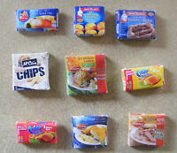 1:12 Scale Frozen Food Packet Dolls House Miniature Kitchen Shop Food Accessory