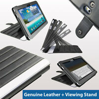 Black Leather Case Cover for Samsung Galaxy Tab P7500 P7510 Android 3G WiFi