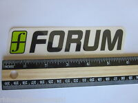 "6"" FORUM Black/Green Ski Snowboard Race Rack Ride DECAL STICKER - FREE SHIPPING"