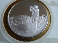 Lot 34 39mm silver proof  medal Jorgen Bronlund Eskimo