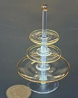 1:12 Three Tier Glass Cake - Sandwich Stand Dolls House Miniature Accessory G13Y
