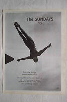 1997 - THE SUNDAYS - Cry - Press Advertisment - Poster Size
