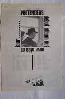 1980 - PRETENDERS - Pretenders + UK Tour Dates - Press Advert - Poster Size