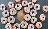 1;12 Scale 7 Chocolate Sprinkles Donuts Dolls House Miniatures Bakery Food T2
