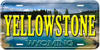 Yellowstone Wyoming Aluminum Novelty Car License Plate