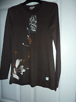 Really Cute OXBOW Brown Afrik Long Sleeved Top NWT